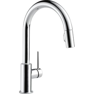 Trinsic Pull Down Single Handle Kitchen Faucet with MagnaTiteu00ae Docking and Diamond Seal Technology