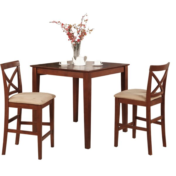Pleasant View 3 Piece Counter Height Bistro Set by Alcott Hill