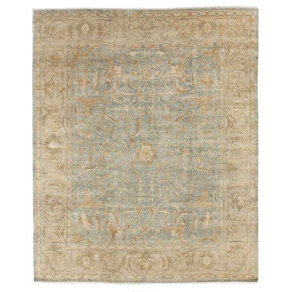 Oushak Hand-Knotted Wool Teal Area Rug by Exquisite Rugs