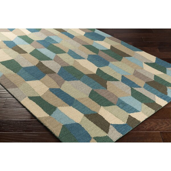 Senger Hand-Tufted Green/Beige Area Rug by Wrought Studio