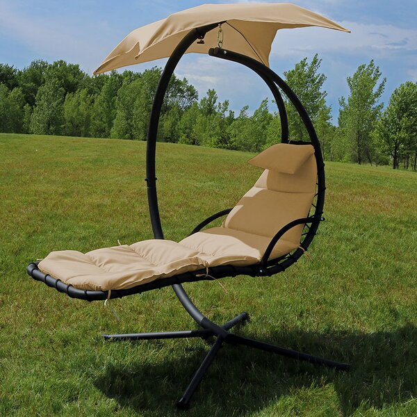 Macie Hanging Chaise Lounger With Stand By Freeport Park