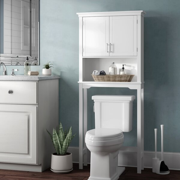 Somerset 27.38 W x 64.38 H x 7.87'' D Over the Toilet Storage