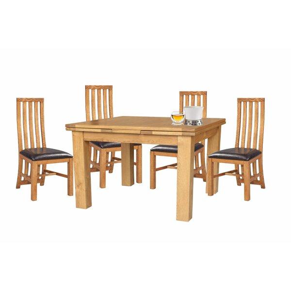 Arreola 5 Piece Extendable Solid Wood Dining Set by Loon Peak Loon Peak