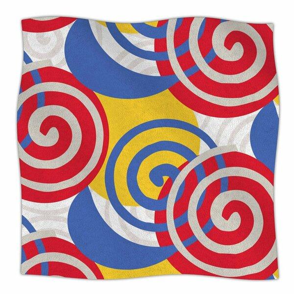 Patternmuse Dynamic Swirls Multi Digital Fleece Throw by East Urban Home