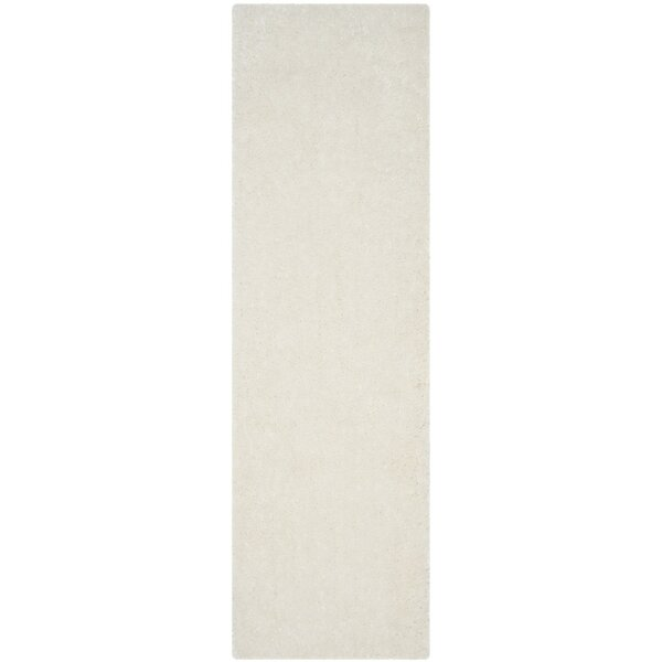 Jayne Shag Hand Woven Ivory Area Rug by Mercer41