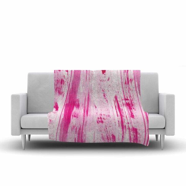 Danii Pollehn Stripes Watercolor Fleece Throw By East Urban Home.