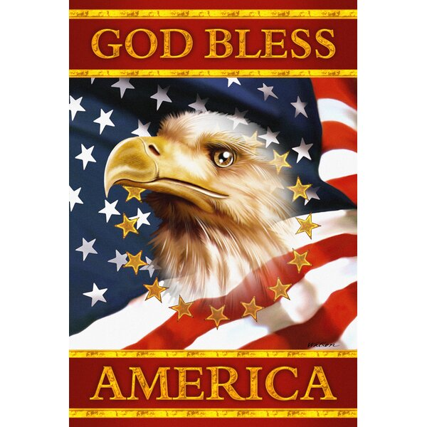 God Bless America Garden flag by Toland Home Garden