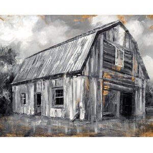 'Copper Barn II' by Sandy Doonan Painting Print on Wrapped Canvas by Portfolio Canvas Decor