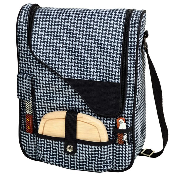 6 Can Houndstooth Wine and Cheese Picnic Cooler by Picnic at Ascot
