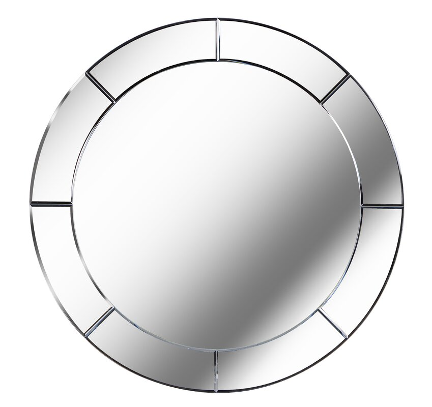 Round Wall Mirror brayden studio large round wall mirror & reviews | wayfair