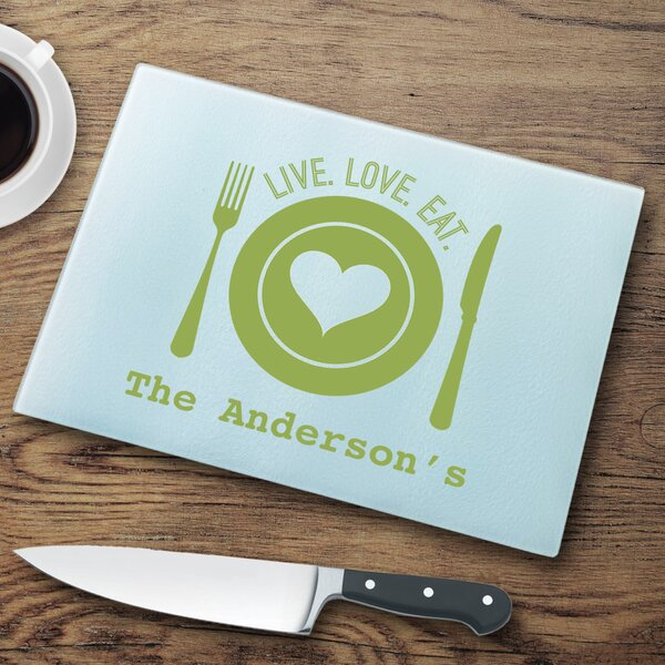 Personalized Glass Cutting Board by JDS Personalized Gifts
