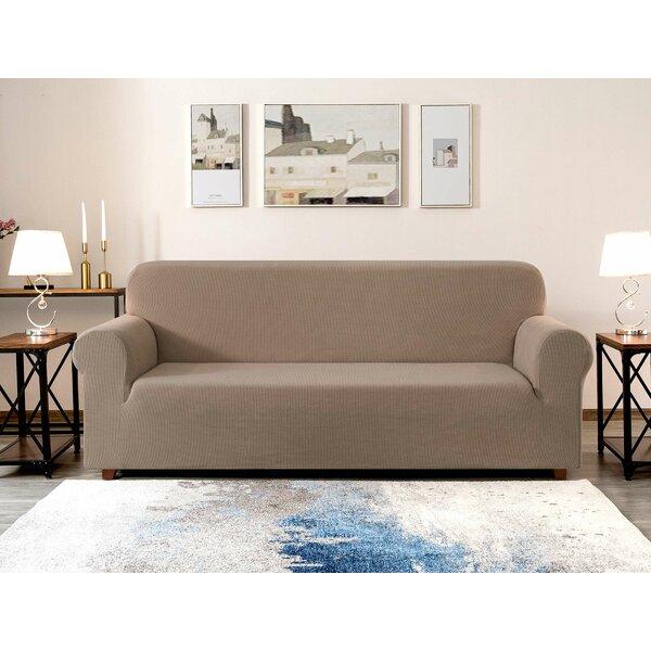 Jacquard Box Cushion Sofa Slipcover By Red Barrel Studio