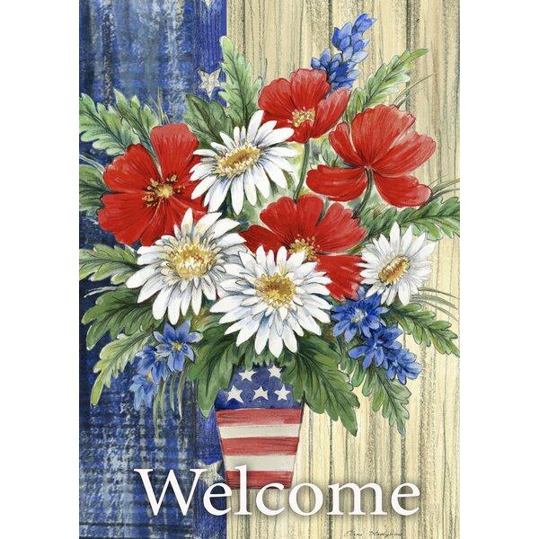 Patriotic Bouquet 2-Sided Garden flag by Toland Home Garden