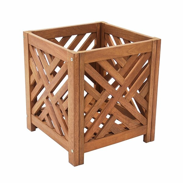 Fretwork Wood Planter Box by ACHLA