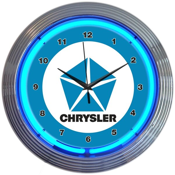 15 Chrysler Pentastar Neon Clock by Neonetics