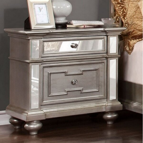 Fielding 2 Drawer Nightstand by Rosdorf Park