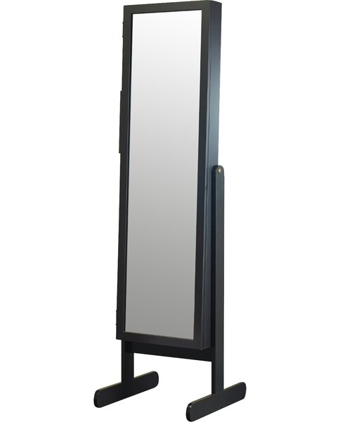 Germano Free Standing Jewelry Armoire with Mirror by Three Posts