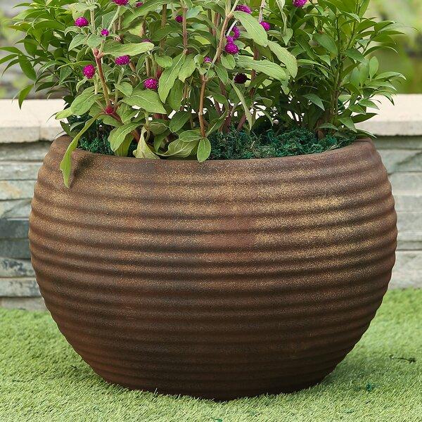 Nicholas Ribbed MgO Fiberclay Pot Planter by Bloomsbury Market