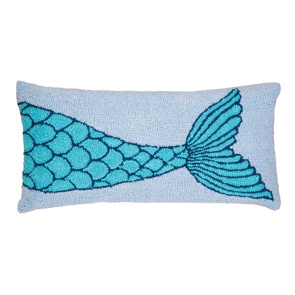 Hargis Mermaid Tail Lumbar Pillow by Highland Dunes