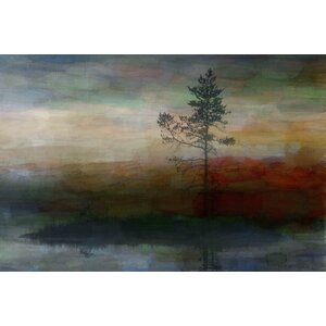 'Lone Tree' by Parvez Taj Painting Print on Wrapped Canvas by Union Rustic