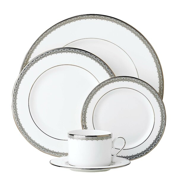 Lace Couture Bone China 5 Piece Place Setting, Service for 1 by Lenox