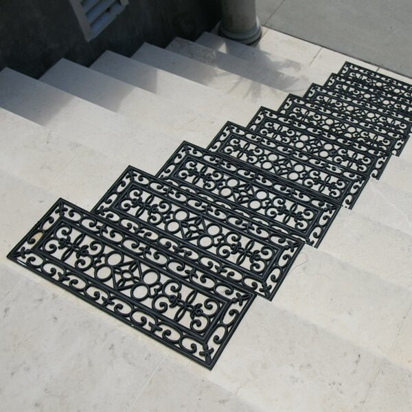 6 Piece Regal Rubber Stair Treads Step Mat Set by Rubber-Cal, Inc.