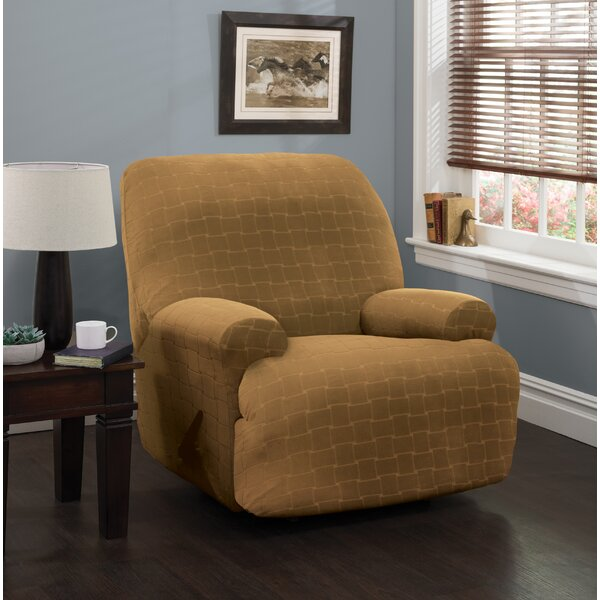 Solid Box Cushion Recliner Slipcover by Red Barrel Studio