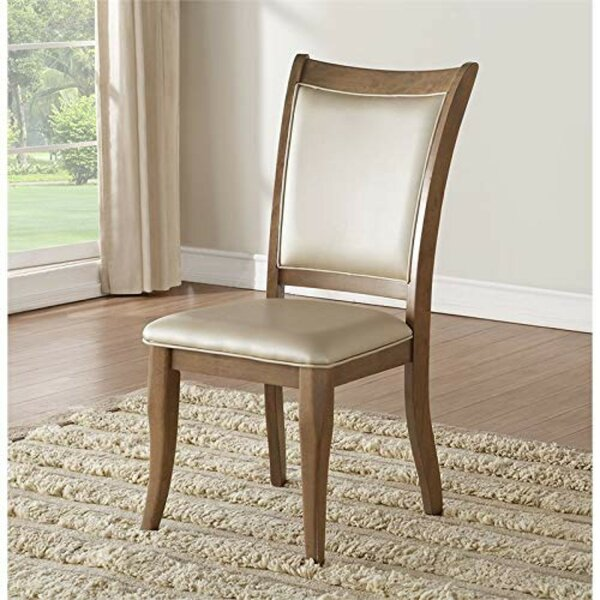 Ziggy Leatherette Upholstered Dining Chair (Set of 2) by Alcott Hill Alcott Hill