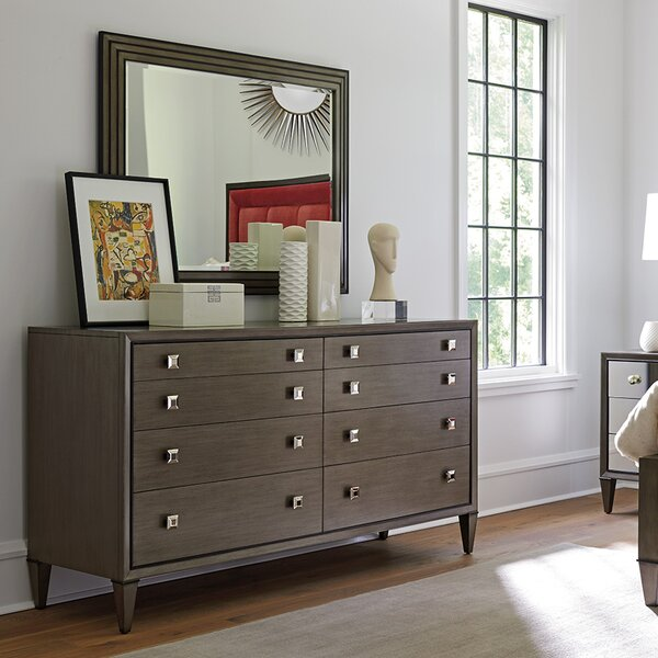 Ariana 8 Drawer Double Dresser with Mirror by Lexington
