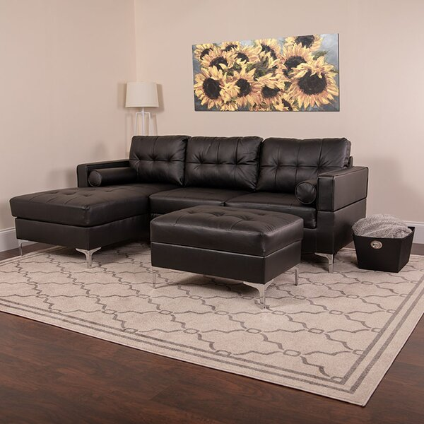 Ballera Sectional with Ottoman by Brayden Studio
