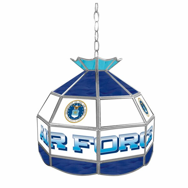 United States Air Force Stained Glass Tiffany Lamp by Trademark Global