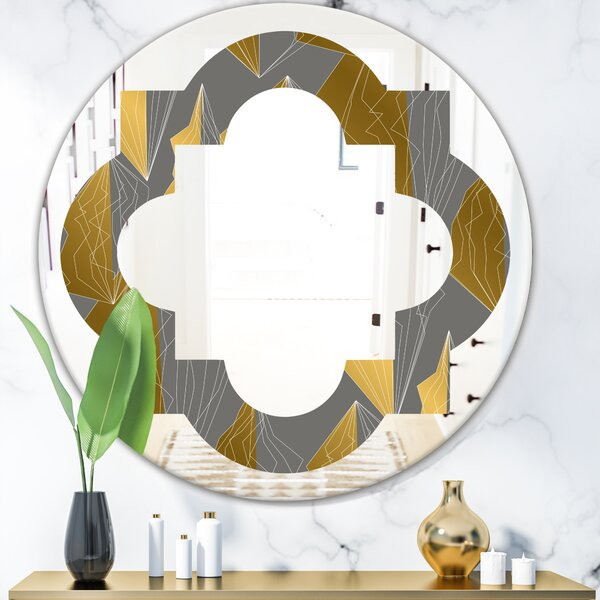 Quatrefoil Polygon Pattern Modern Frameless Wall Mirror