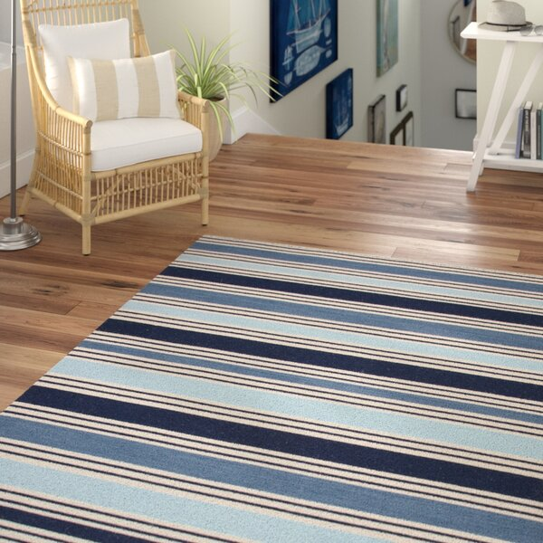 MacAdam Hand-Woven Blue Area Rug by Beachcrest Home