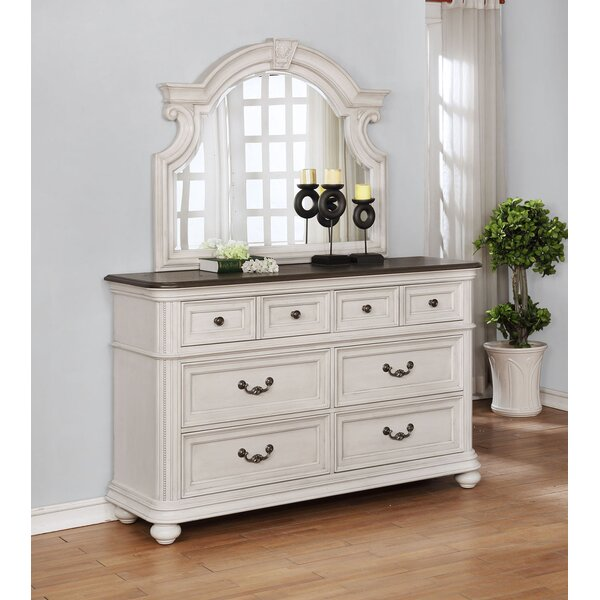 Alisa 6 Drawer Double Dresser with Mirror by One Allium Way