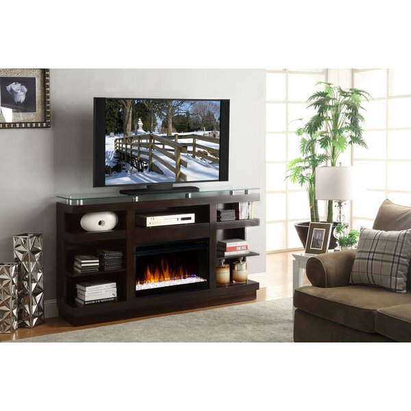 Emanuel 65 TV Stand with Fireplace by Wade Logan