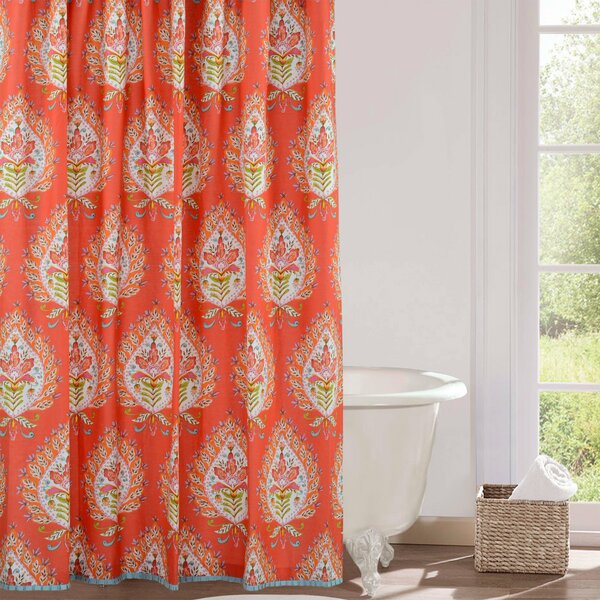 Kalani Cotton Shower Curtain by Dena Home