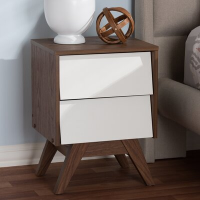 baxton studio uberto wood storage 2 drawer nightstand