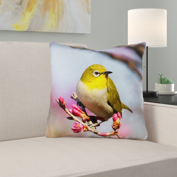 Holston Bird Outdoor Throw Pillow by Latitude Run