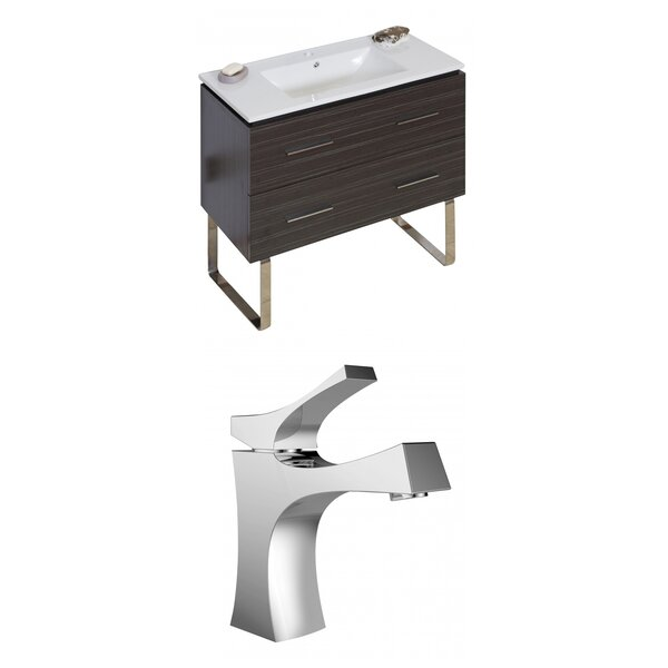 Kyra Modern 36 Multi-Layer Stain Single Bathroom Vanity Set by Orren Ellis