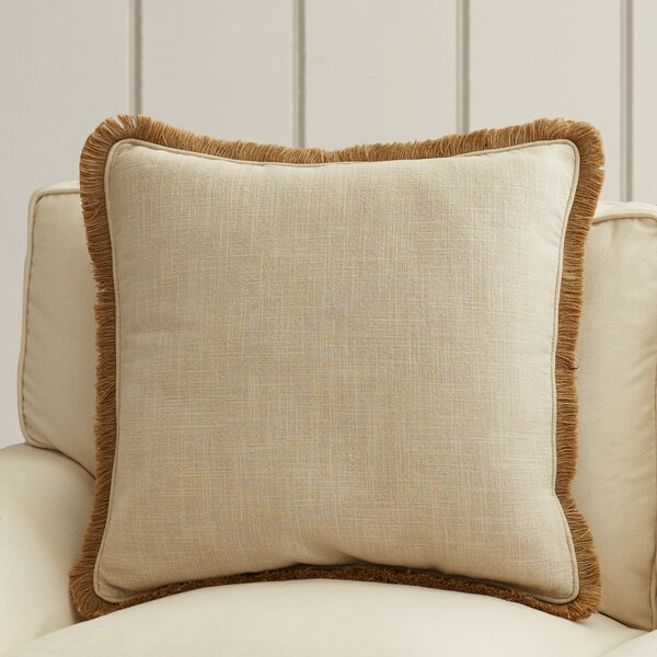 Wendell Square Linen Throw Pillow by Rosecliff Heights