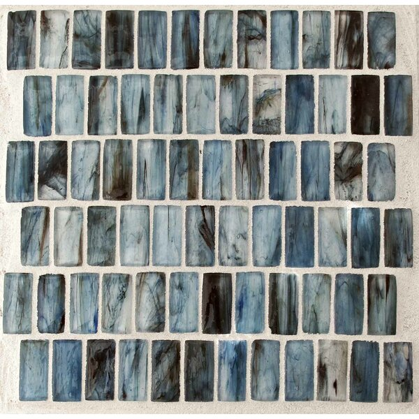 Royal 1 x 2 Glass Mosaic Tile in Blue by Tile Focus