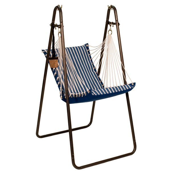 Sunbrella and Polyester Chair Hammock with Stand by Algoma Net Company Algoma Net Company