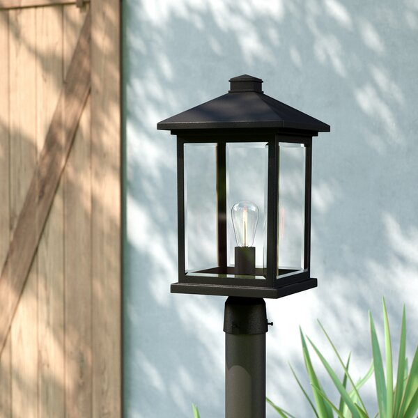 Leroy Modern 1-Light Beveled Glass Lantern Head by 17 Stories