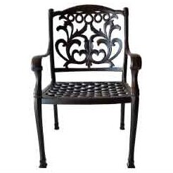 Simms Stacking Patio Dining Chair by One Allium Way