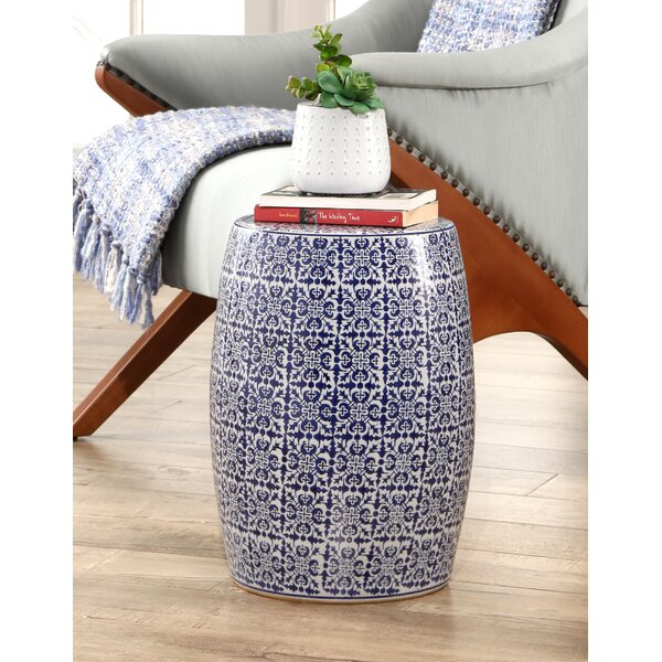 Cristobal Hand Painted Tile Garden Stool by Bloomsbury Market