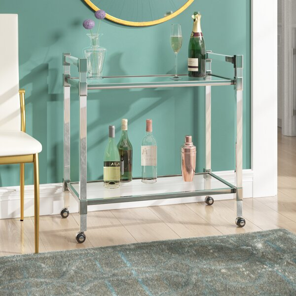 Kolar Modern Glass Bar Cart by Mercer41 Mercer41