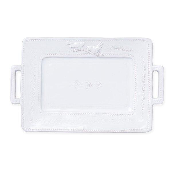 Bellezza Stone Handled Rectangular Platter by VIETRI