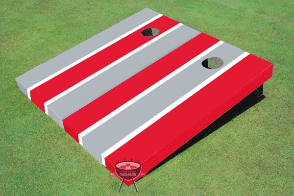 Alternating Long Stripe Cornhole Board (Set of 2) by All American Tailgate