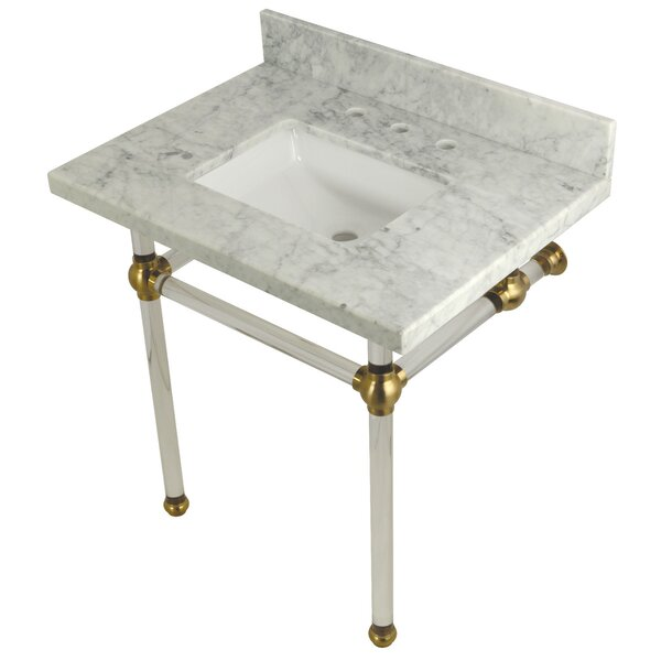 Carrara Marble 22 Single Bathroom Vanity Set by Kingston Brass