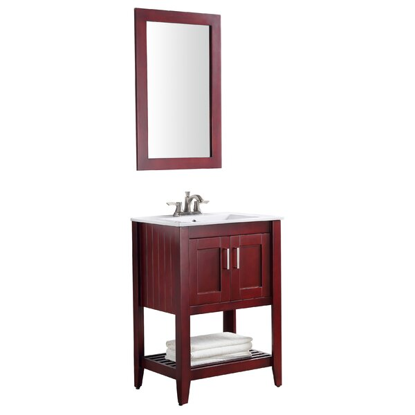 Elkin 24 Single Bathroom Vanity Set with Mirror by Breakwater BayElkin 24 Single Bathroom Vanity Set with Mirror by Breakwater Bay